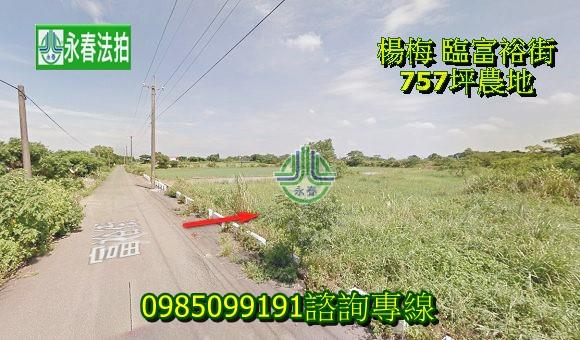 桃園法拍農地楊梅法拍農地 正富裕街路寬約12米 楊富段757坪永春法拍 宜朋資產